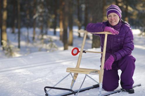 Видео о финских санях